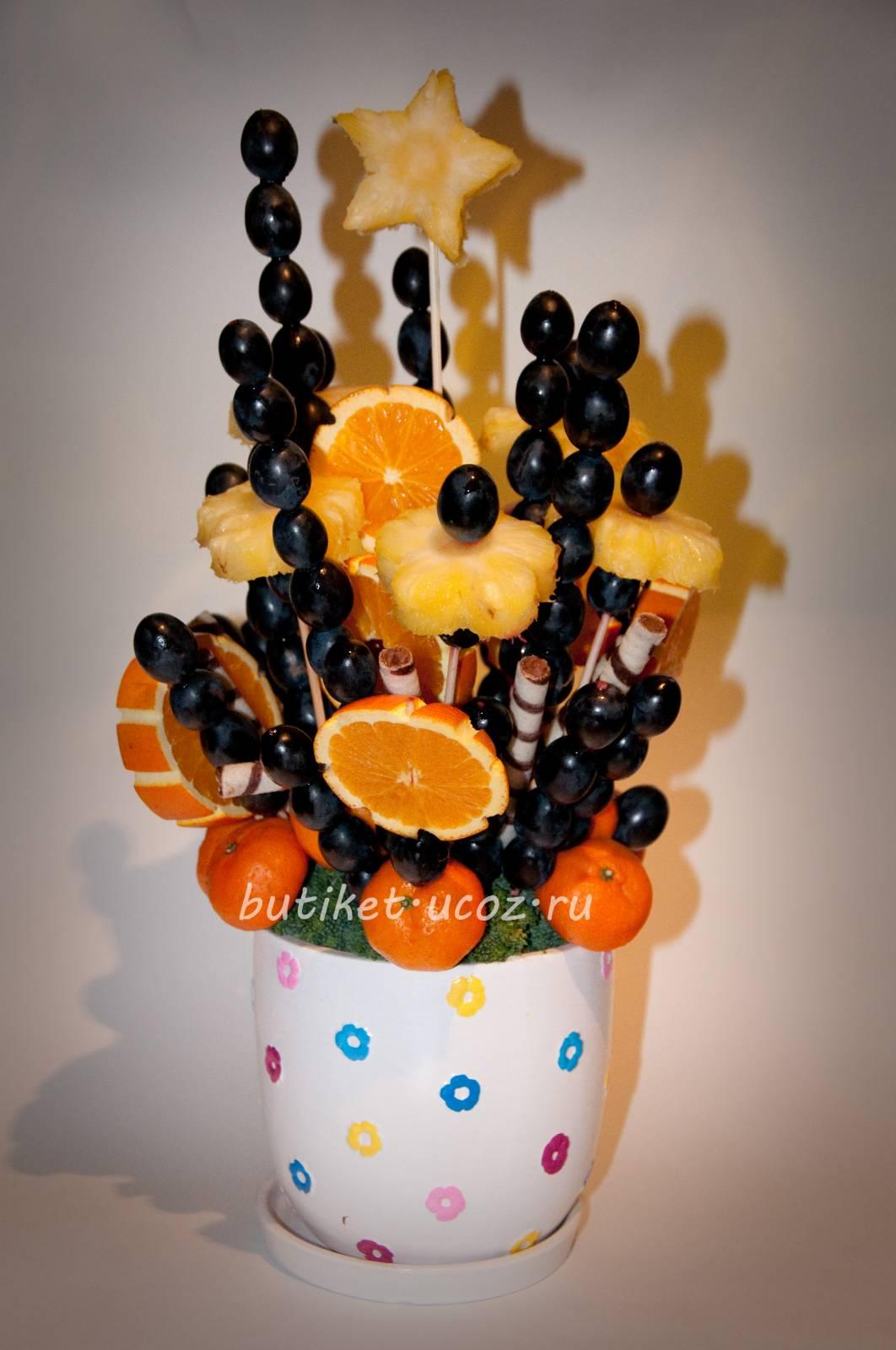 Букет из мандаринов своими руками пошаговое фото